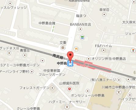Googleマップ中野島